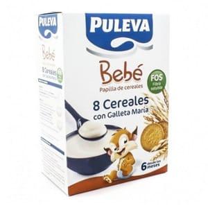 Puleva bebé papilla 8 cereales galleta Maria Fos 600gr