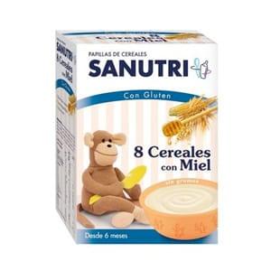 Sanutri 8 cereales con miel 600gr