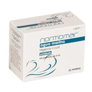 Normomar agua marina estéril limpieza nasal 24 monodosis