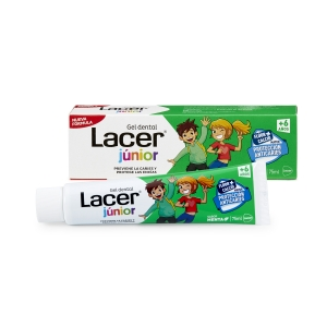 Lacer junior gel dental sabor menta 75ml