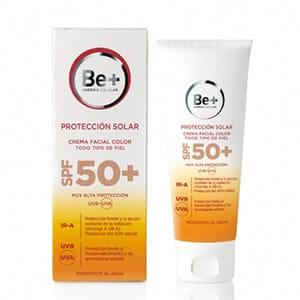 Be+ fotoprotector crema facial color SPF50+ 50ml