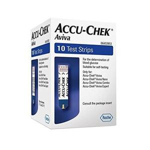 Accu-Chek Aviva medición glucosa 10 tiras reactivas