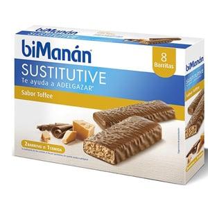 biManán Sustitutive sabor toffee 8 barritas