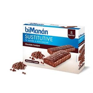 biManán Sustitutive sabor chocolate fondant 8 barritas