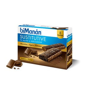 biManán Sustitutive sabor chocolate intenso 8 barritas