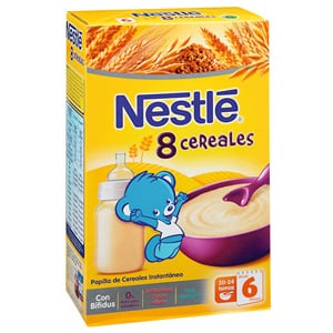 Nestlé papilla 8 cereales con bífidus 600gr