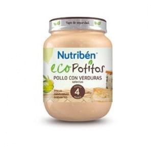 Nutribén Eco Potito pollo con verduras 130gr