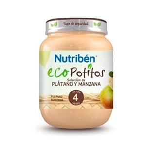 Nutribén Eco Potito selección de plátano y manzana 130gr