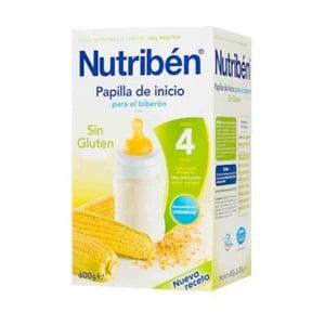 Nutribén papilla inicio biberón sin gluten 600gr