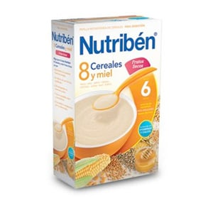 Nutribén 8 cereales con miel y frutos secos 600gr