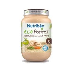 Nutribén Eco Potito verduras de la huerta y pavo 200gr
