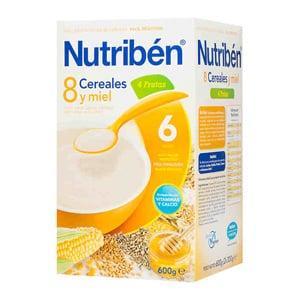 Nutribén 8 cereales con miel y 4 frutas 600gr