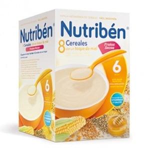 Nutribén 8 cereales miel fibra 600gr