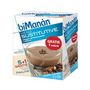 biManán Sustitutive natillas praline 5 sobres