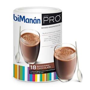 biManán método PRO batido chocolate 18 sobres