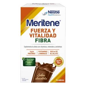 Meritene fibra sabor chocolate 14 sobres