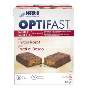 Optifast barritas frutas del bosque 6uds