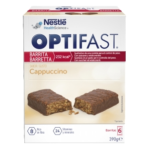 Optifast barritas capuchino 6uds