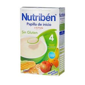 Nutribén papilla inicio a la fruta sin gluten 300gr