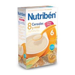 Nutribén 8 cereales y miel frutos secos 300gr