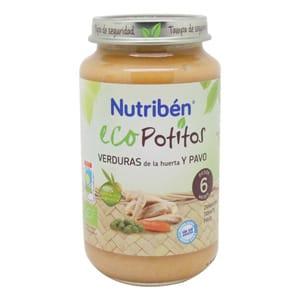 Nutribén Eco Potito verduras de la huerta y pavo 250gr