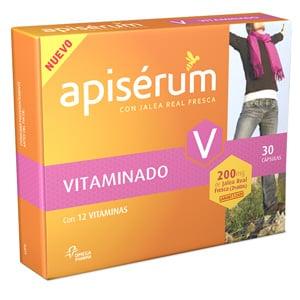 Apisérum vitaminado con jalea real fresca y vitaminas 30cáps