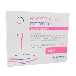 Normon suero oral rehidratación fresa 2x 250ml