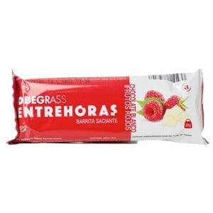 Obegrass Entrehoras chocolate blanco y frutos rojos 1 barrita 30gr