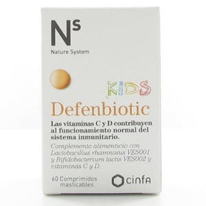 N+S Defenbiotic Kids 60 comprimidos masticables
