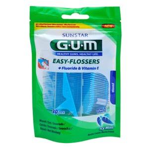 Gum 890 easy flossers seda dental aplicador 30uds
