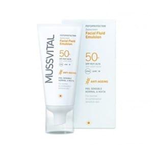 Mussvital solar crema facial antimanchas SPF50+ 50ml