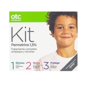 Otc antipiojos Kit 1 2 3 permetrina 15%