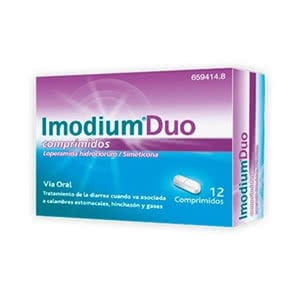 Imodium Duo 2mg/125 mg 12comp masticables