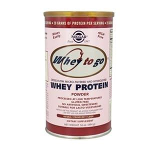 Solgar Whey To Go proteína en polvo sabor fresa 454g