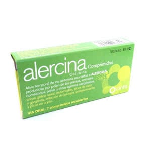Alercina 10 mg 7 comprimidos