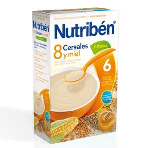 Nutriben 8 cereales miel 4 frutas 300grs