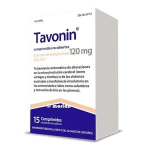 Tavonin 120mg 15 comprimidos