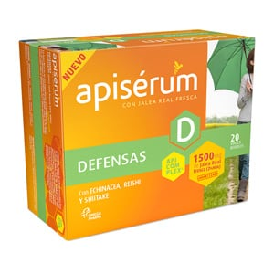 Apisérum Defensas con Jalea Real Fresca, 20 viales bebibles