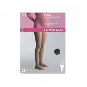Farmalastic panty compresión normal embarazada negro talla grande