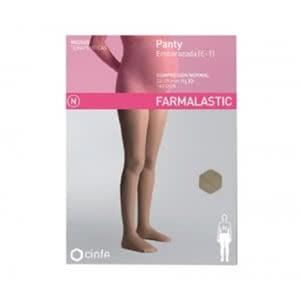 Farmalastic panty compresión normal embarazada beige talla grande