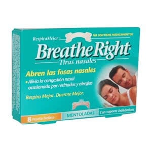 Breathe Right tira nasal  mentolada 8 uds