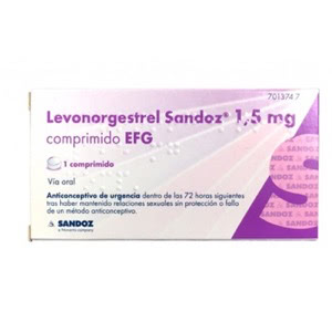 Sandoz Levogestrel 1,mg EFG 1comp
