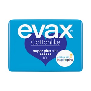 Evax Cottonlike super plus con alas 10 compresas