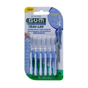 Gum cepillo interdental traveler 0,6mm 6uds
