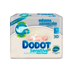 Dodot Sensitive T-1 2-5 Kg 30uds
