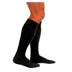 Medilast calcetín negro compresión normal T-L 1par