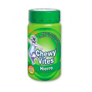 Chewy Vites hierro 60 ositos