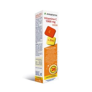 Arkovital vitamina C 1000mg + zinc 20comp