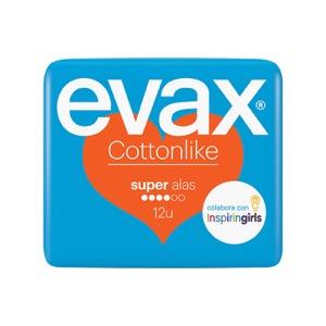 Evax Cotton Like Super con alas 12uds