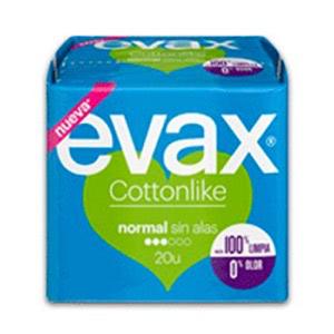 Evax Cottonlike compresa normal sin alas 20uds